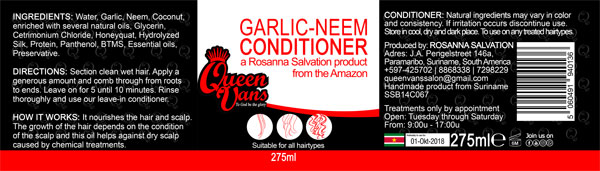 2a SSB14C067 5060491940136 Queen Vans Conditioner Garlic Neem 275ml 225mmx60mm RGB 1200px