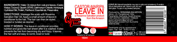 4b SSB14C069 5060491940167 Queen Vans Leave In Castor Maripa 150ml 185mmx40mm RGB 1200px