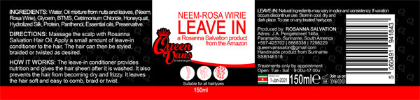 4f SSB14E518 5060491941843 Queen Vans Leave In Neem Rosa Wirie 150ml 185mmx40mm RGB 1200px
