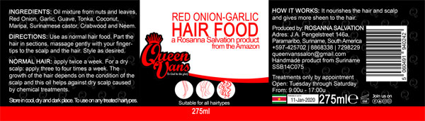6e SSB14C075 5060491940242 Queen Vans Hair Food Red Onion Garlic 275ml 225mmx60mm RGB 1200px