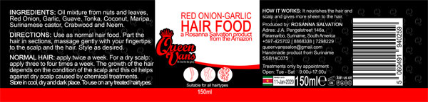 6f SSB14C075 5060491940259 Queen Vans Hair Food Red Onion Garlic 150ml 185mmx40mm RGB 1200px